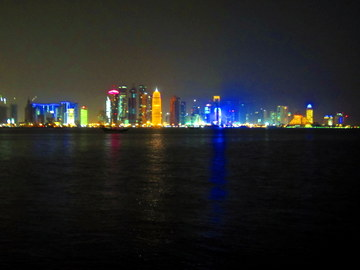 Doha - panorama na West Bay (2012)