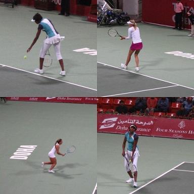 Williams, Szarapowa, Cibulkova - odwiedziły wioskę Doha!!!