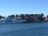 Not sure what is bigger - the house or the boat!