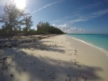 The beautiful beach at Rose Island.