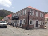 The brick house in Gustavia.