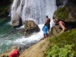 Stewart preparing to go through the Falls.