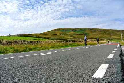 The lower slopes of the Holme Moss climb