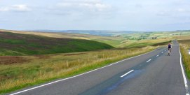 The top of Cragg Vale is surrounded by heather moors