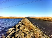 Water, stone and road - the top of Cragg Vale