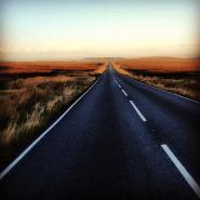 The long run down from Marsden Moor