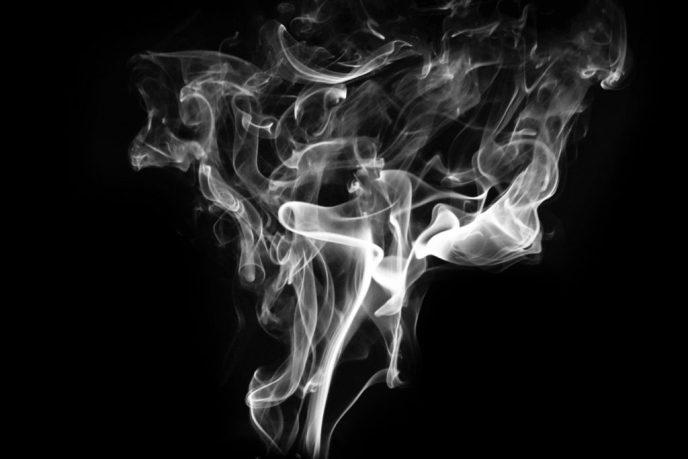A plume of white smoke.
