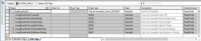 In RSLogix, the UDT description distributed through each of the element's descriptions in the new User-Defined Data Type.