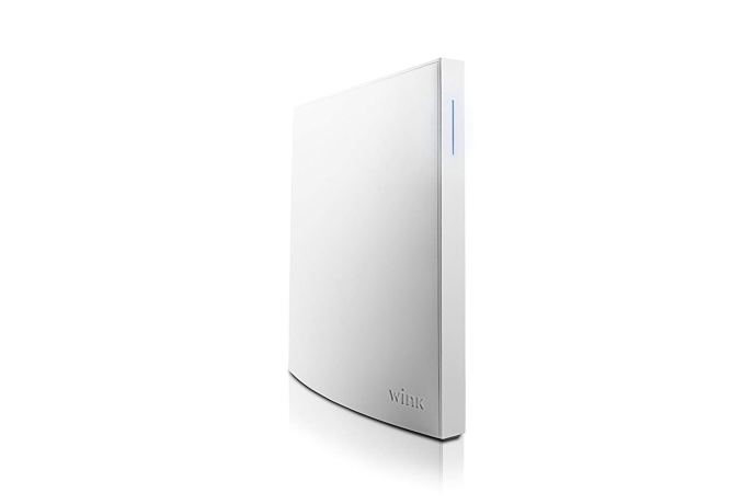 An image of the Wink Hub 2 smart home automation hub.