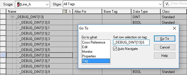 Ctrl+G is a helpful keyboard shortcut in RSLogix 5000. It allows the user to jump directly to a tag, rung, or other object.