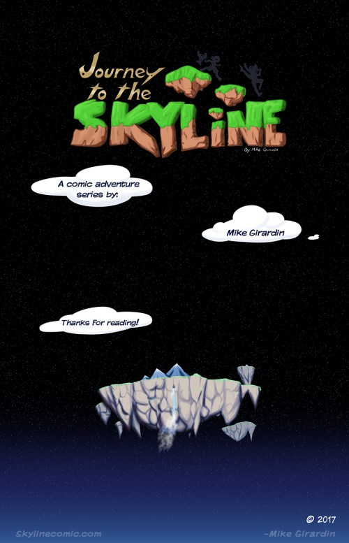 Journey to the Skyline Issue 02 credits page