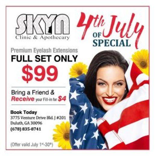 skyn clinic 4th of july sale
