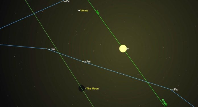 A diagram of the New Moon on April 11, 2021.   SkyNews