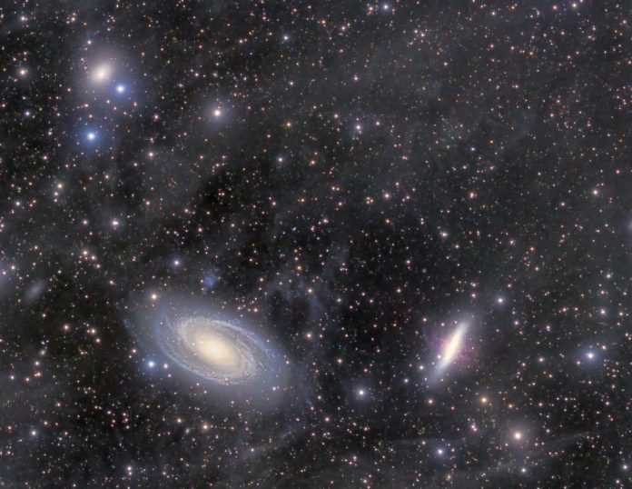 An image of galaxies Messier 81 and Messier 82 by Stuart Heggie | SkyNews