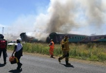 Watch video of a deadly train crash in Pretoria South Africa