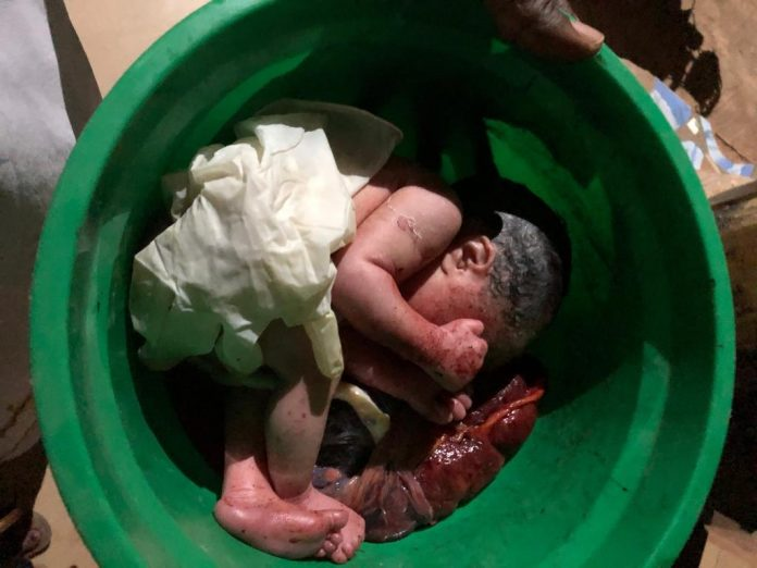 Day-old baby dumped at Catholic Church gate