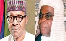 images of chief justices of nigeria and buhari