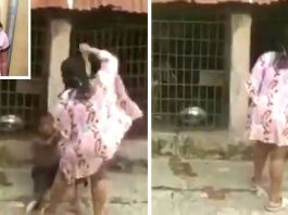 Nigerian woman who locks boy in dog cage now in Police net