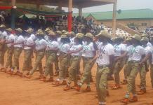PHOTO: Nigeria's Corps members taking salute