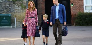 Princess Charlotte arrives for first day of school