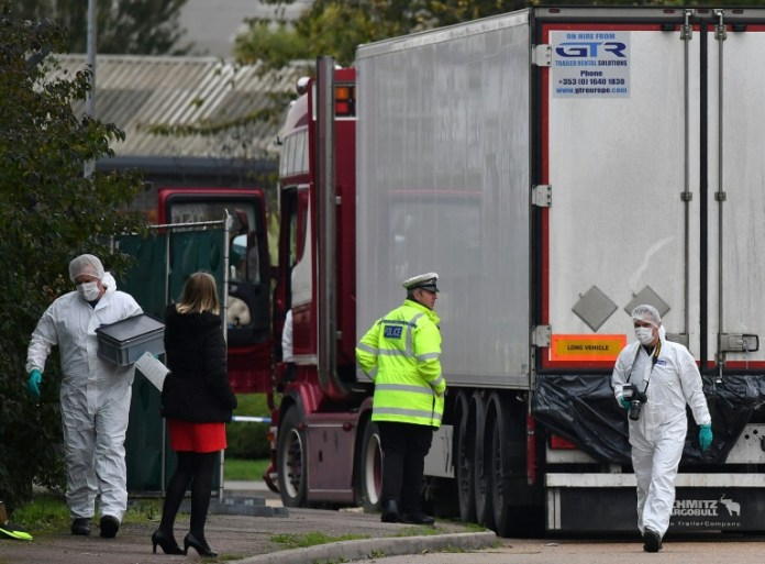 UK police say 39 found dead in truck were Chinese