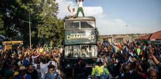 'Warrior' Springboks parade World Cup through streets of Soweto