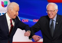 sky news africa Biden-Sanders vote proceeds in 3 US states despite virus fears