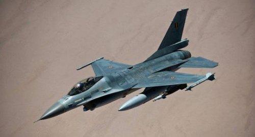 تحطم مقاتلة أمريكية من طراز F-16