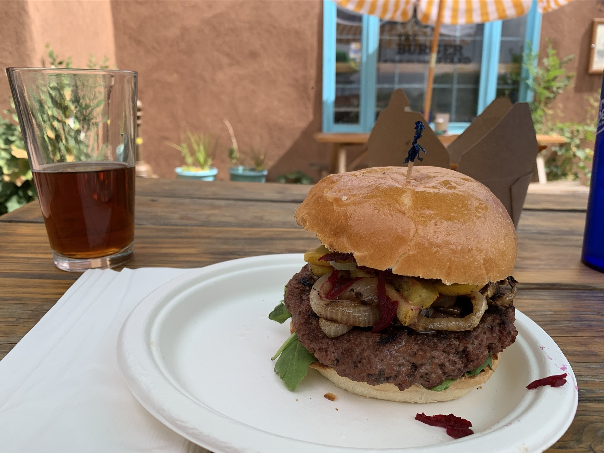 Impossible Burger at The Burger STand in Taos, New Mexico
