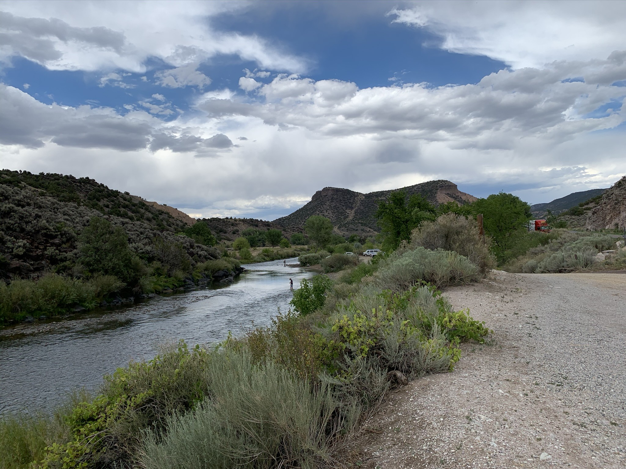 Rio Grande River between Santa Fe and Taos, New Mexico