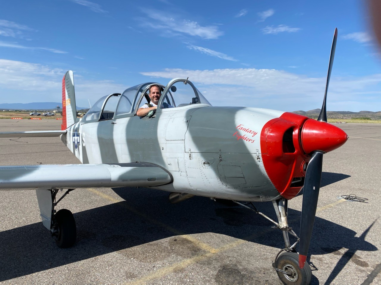Don in the T-34 Mentor, Santa Fe, New Mexico