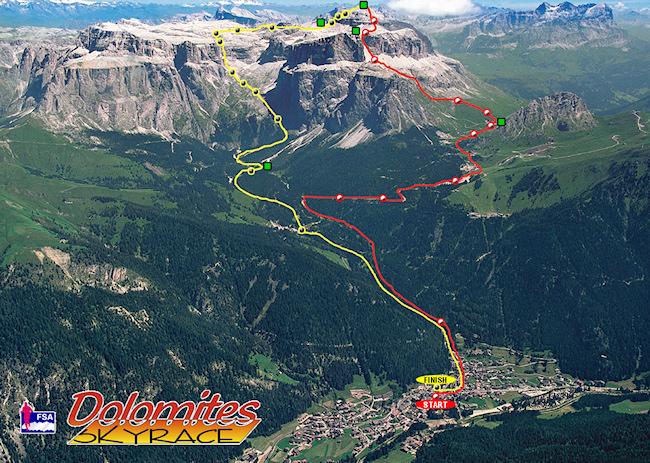 Trať Dolomites SkyRace