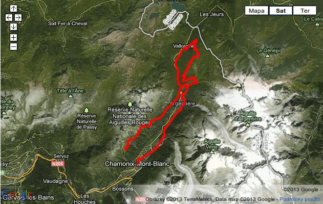 Mapa Mont-Blanc Marathon