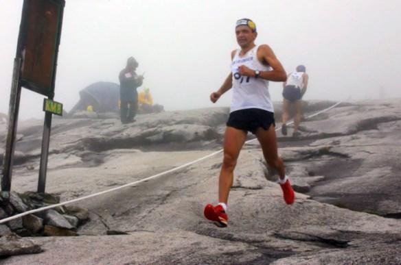 Bruno v seběhu na Climbathonu