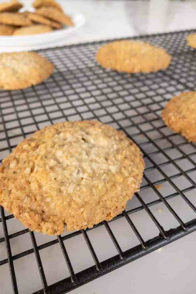 coconut and oatmeal cookie