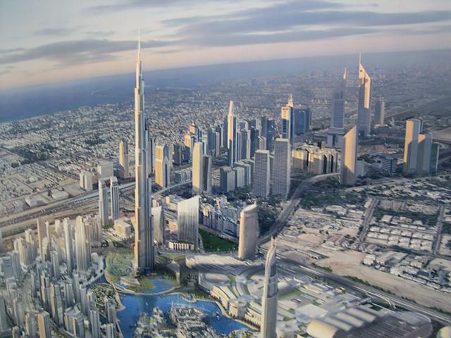 Skyline rendering of Burj Khalifa