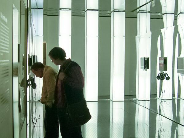 "Installation view of ""Columns of Light"""