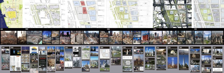 Click on the image to explore the World Trade Center Rebuilding gallery mural.