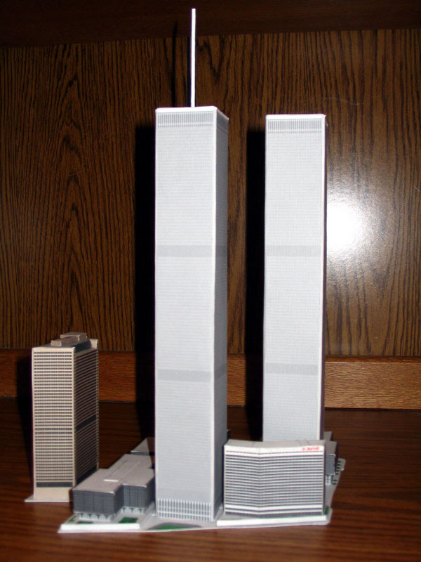 World Trade Centre and Tower 7 paper model