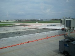 It's pretty fun to watch the pilots maneuvered by the ground crew around these cones.