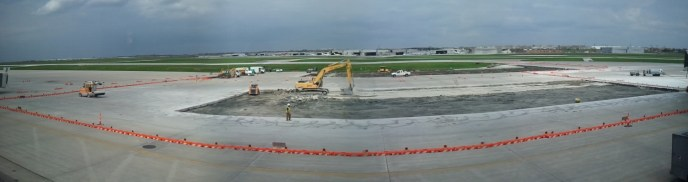 A panorama of the runways.