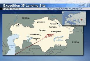 Landing site in Khazakhstan