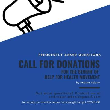 One of my former students and his older sister has set up a means to help our front liners. Check this out.