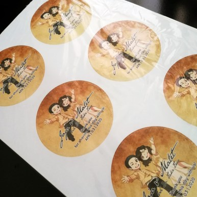MarcDee's stickers for the abanikos, printed before the quarantine, but shipped after GCQ was announced.