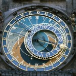The Prague astronomical clock.