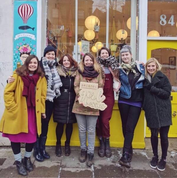 Bristol Girl Bosses Members outside Blaze