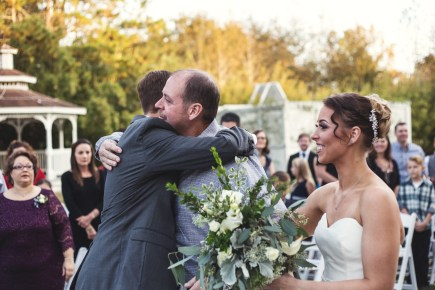 Walking down the aisle with dad