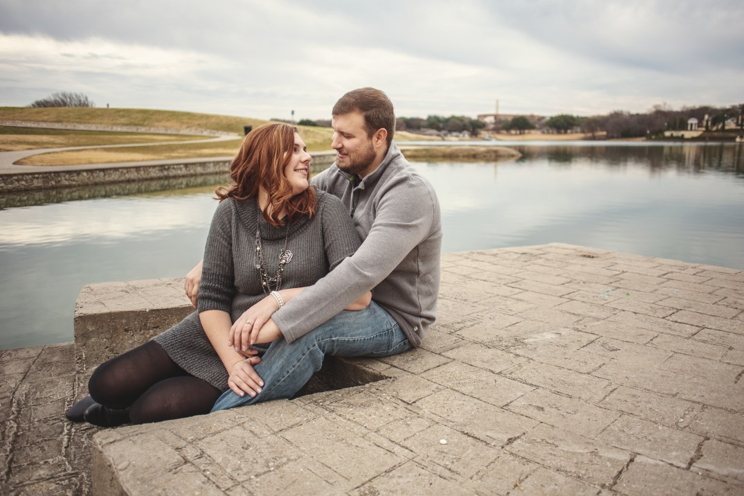 Engagement shoot at Adriatica Village in McKinney, Texas