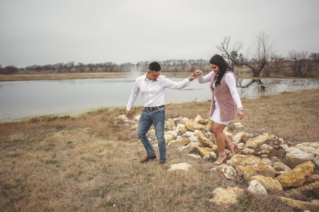 Engagement Session at Hawthorn Hills Ranch in Krum, Texa