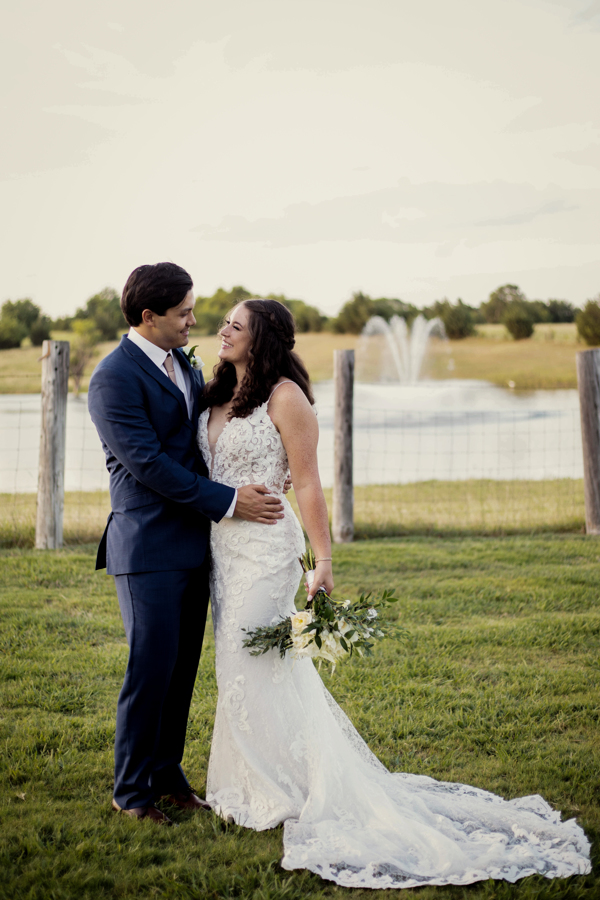 Bride and Groom Portrait at Rustic Grace Estate